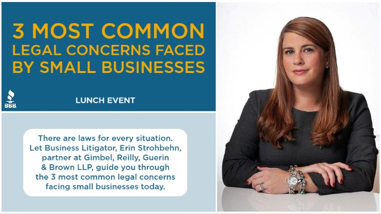 3 Most Common Legal Concerns Faced by Small Businesses Lunch Event